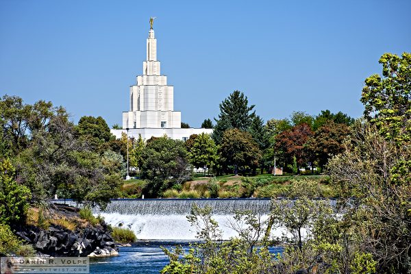 """Straight and Narrow"" [Mormon Temple in Idaho Falls, Idaho]"