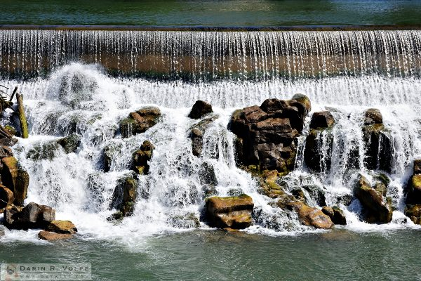 """Order and Chaos"" [Diversion Dam Waterfall in Idaho Falls, Idaho]"