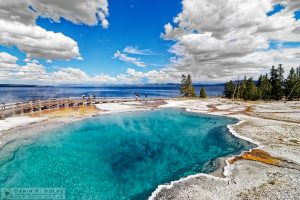 """Not So Black"" [Black Pool in West Thumb Geyser Basin in Yellowstone National Park, Wyoming]"