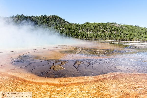 """The Edge of the Spring"" [Grand Prismatic Spring in Yellowstone National Park, Wyoming]"