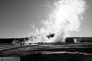 """Sleeping Giant"" [Tourists at Excelsior Geyser Crater in Yellowstone National Park, Wyoming]"