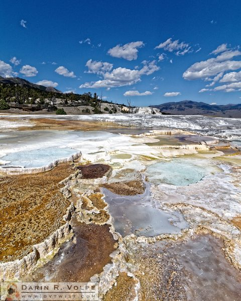 """Liquid Stairway"" [Main Terrace at Mammoth Hot Springs in Yellowstone National Park, Wyoming]"