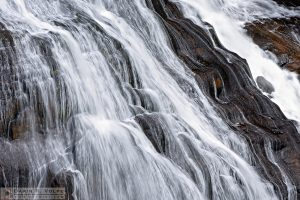 """Water Over Rock"" [Gibbon Falls in Yellowstone National Park, Wyoming]"