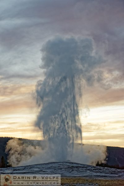"""Eruption!"" [Old Faithful Geyser in Yellowstone National Park, Wyoming]"