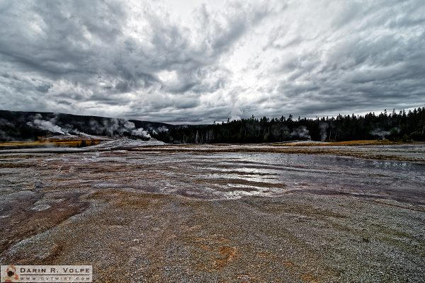 """Where Clouds Are Made"" [Upper Geyser Basin in Yellowstone National Park, Wyoming]"
