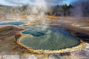 """Doubly Beautiful"" [Doublet Pool in Yellowstone National Park, Wyoming]"