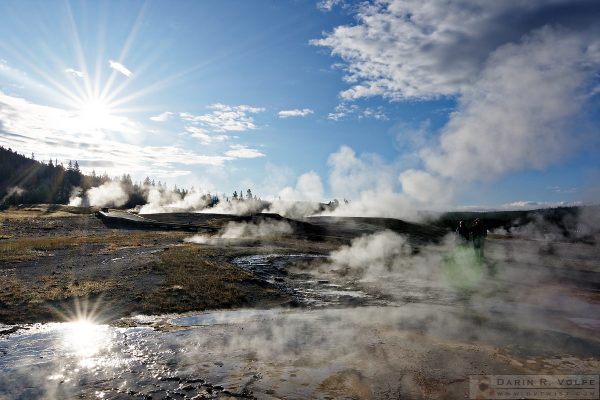 """Good Morning Yellowstone"" [Upper Geyser Basin in Yellowstone National Park, Wyoming]"