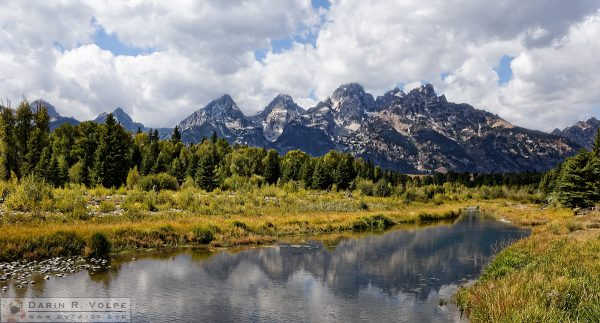 """Jagged"" [Teton Range from Schwabacher Landing Grand Teton National Park, Wyoming]"