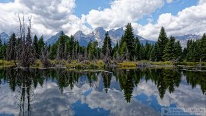 """Teton Reflections"" [Teton Range from Schwabacher Landing in Grand Teton National Park, Wyoming]"