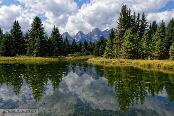 """Beaver Pond"" [Teton Range from Schwabacher Landing Grand Teton National Park, Wyoming]"