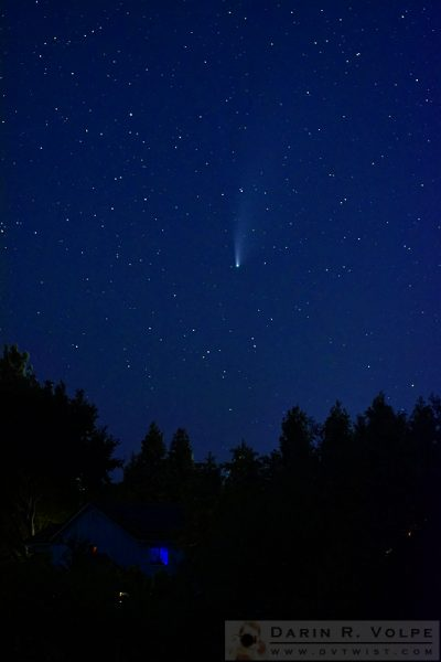 """'Hey Look! There's a Comet On the TV!'"" [Neowise Comet from Templeton, California]"