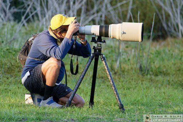 """Shooting Birds"" [Wildlife Photographer at Santa Margarita Lake, California]"