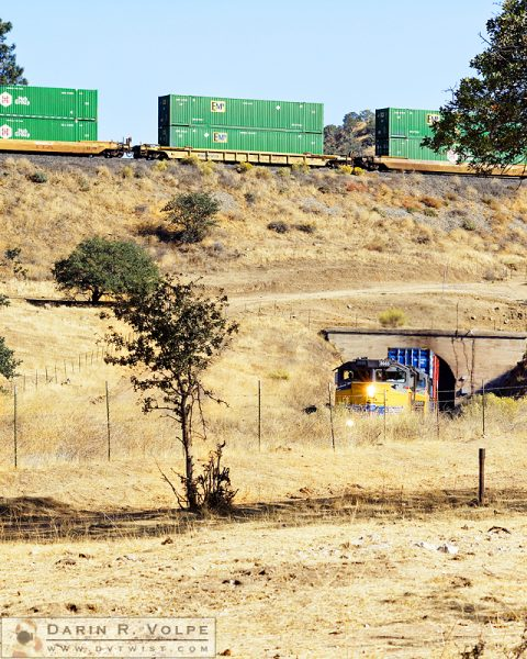 """Peeking Out From Below"" [Union Pacific Freight Train on The Tehachapi Loop, California]"