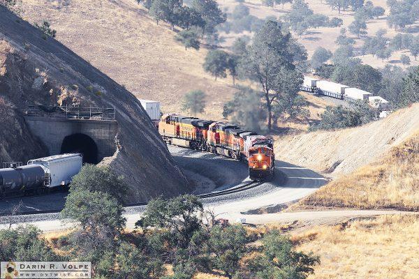 """Twists and Turns"" [BNSF Intermodal Train in the Tehachapi Mountains, California]"