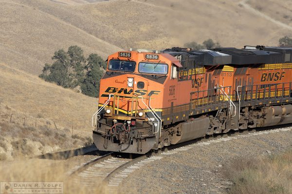 """October Pumpkins"" [BNSF ES44AC Locomotives in The Tehahapi Mountains, California]"