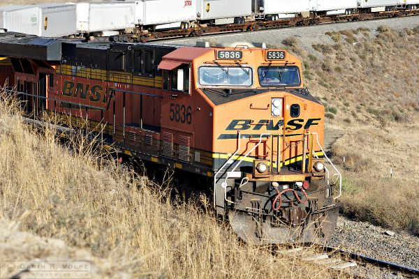 """BNSF"" [General Electric ES44AC Locomotive in The Tehachapi Mountains, California]"