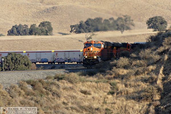 """Hot and Cold Running Train"" [BNSF Freight Train in The Tehahapi Mountains, California]"