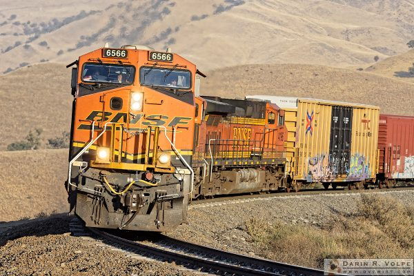 """The Little Engines That Could"" [BNSF Freight Train in The Tehahapi Mountains, California]"