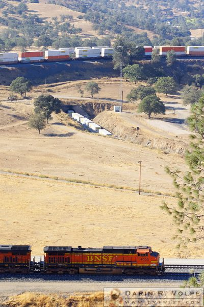 """How Many Trains?"" [BNSF Freight Train on the Tehachapi Loop, California]"