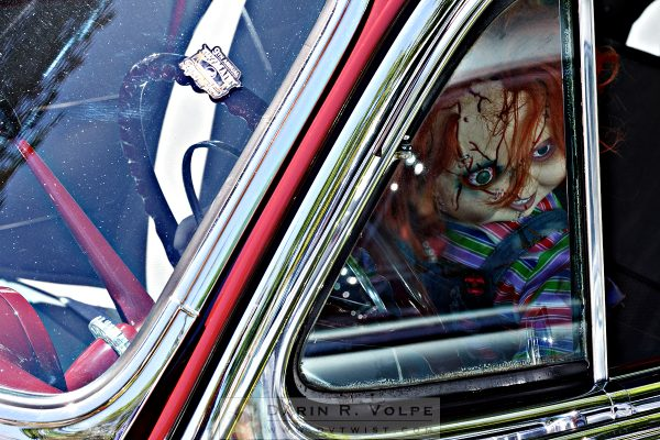 """Car Of Chucky"" [Chucky Doll In A 1954 Chevy At The Golden State Classic Car Show, Paso Robles CA]"