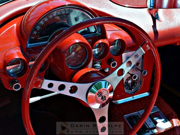 """Cockpit"" [Instrument Cluster, 1960 Corvette At The Golden State Classic Car Show, Paso Robles CA]"