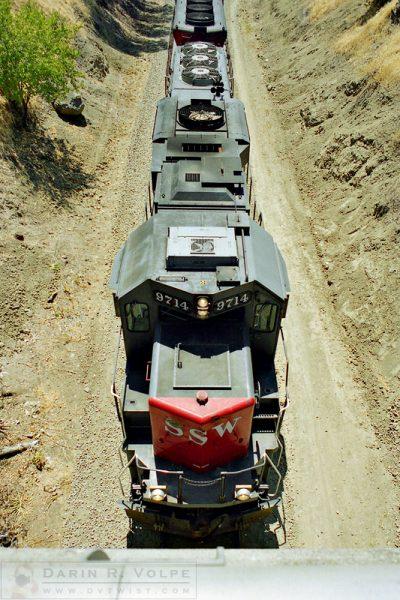 """Diesel Under the Bridge"" [SSW EMD GP60 Locomotive in San Luis Obispo, California]"