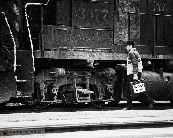 """Do Not Hump"" [Train Engineer & EMD GP40 Locomotive in San Luis Obispo, California]"