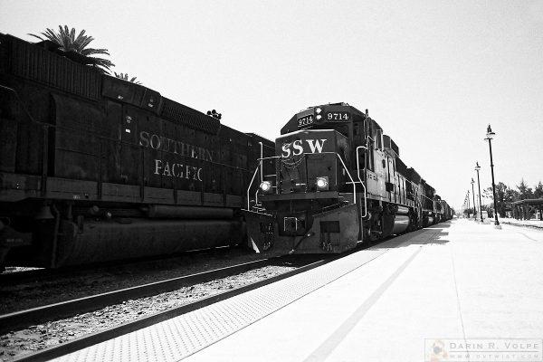 """Fallen Flags"" [SSW GP60 and SP SD40T-2 Locomotives in San Luis Obispo, California]"