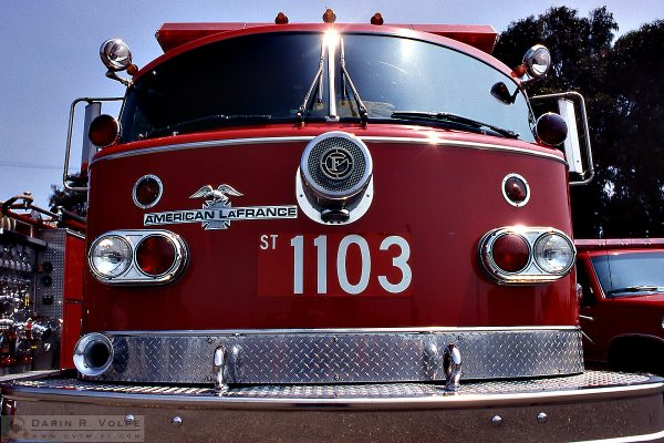 """Fire Engine Red"" [American LaFrance Fire Engine in Morro Bay, California]"