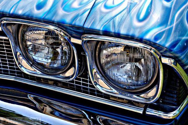 """Four Eyes"" by Darin Volpe [1968 Chevy El Camino Headlights At The Golden State Classic Car Show, Paso Robles California]"