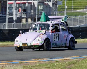 """Hella Shitty Beetle"" by Darin Volpe [Volkswagen Beetle Racer At The 24 Hours Of Lemons Race, Sonoma California]"