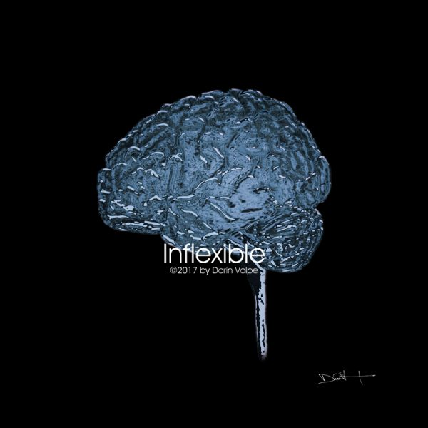 Inflexible -- Digital Art From An Mri Scan Of A Human Brain