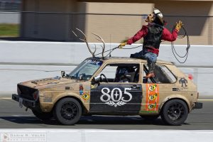 """Jackalope Wrangler"" by Darin Volpe [Volkswagen Rabbit at the 24 Hours Of Lemons Race, Sonoma California]"