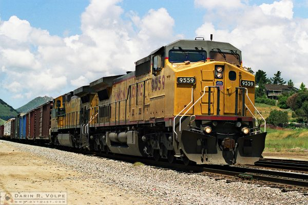 """On Dasher"" [Union Pacific GE Dash 8-41CW Locomotive in San Luis Obispo, California]"
