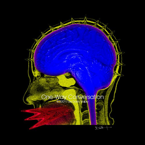 One-way Conversation -- Digital Art From An Mri Scan Of A Human Head