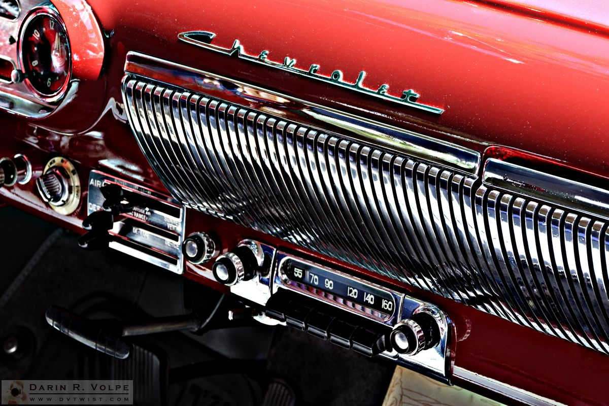"""Rock Around The Clock"" by Darin Volpe [1954 Bel Air Radio At The Golden State Classic Car Show, Paso Robles California]"