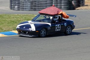 """Scotty, We Need More Power!"" by Darin Volpe [Mazda Miata At The 24 Hours Of Lemons Race In Sonoma, California]"
