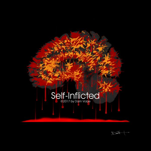 Self-Inflicted -- MRI Digital Art