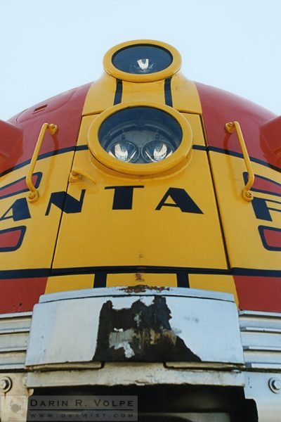 """Super Chief"" [Santa Fe EMD F7 at the California State Railroad Museum in Sacramento, California]"