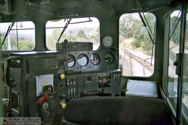 """""""The Engineer's View"""" [Southern Pacific SD40M-2 Locomotive in San Luis Obispo, California]"""