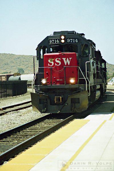 """Warts and All"" [SSW EMD GP60 Locomotive in San Luis Obispo, California]"