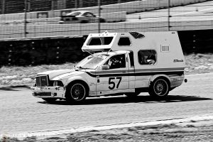 """Where's The Dump Station?"" by Darin Volpe [BMW Camper Race Car at the 24 Hours Of Lemons Race, Sonoma California]"