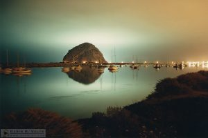 """Collecting Tomorrow's Calamari"" [Squid Boat Lights And Harbor Morro Bay, California]"