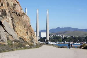 """The Rock and the Stacks"" [Morro Rock and the Old Power Plant]"